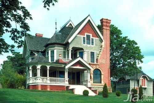 别墅外墙瓷砖搭配效果图欣赏 高清图片