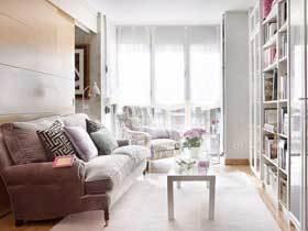粉嫩家居设计 40平现代清新一居