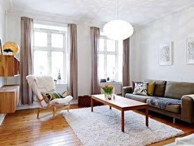 北欧森系公寓 86平二居室案例设计