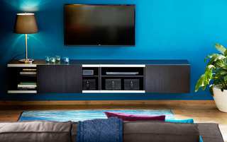 黑色宜家风格电视柜图片