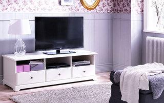 白色宜家风格电视柜图片