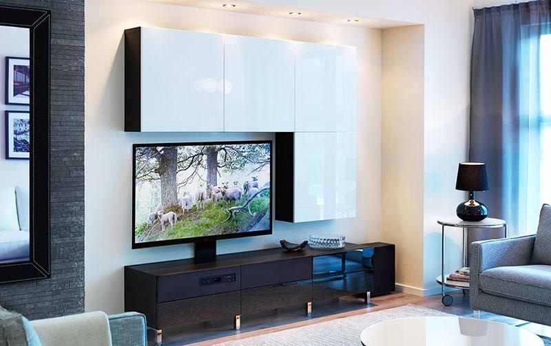 黑白组合电视柜图片