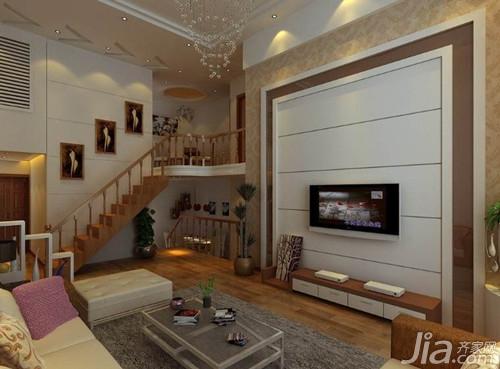 复式楼客厅吊顶设计效果图图片