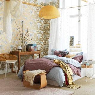 金色卧室壁纸装修效果图