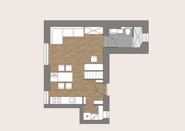 loft小公寓户型图