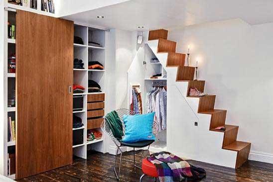 卧室实用楼梯设计效果图