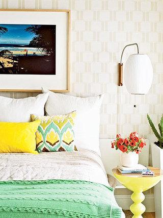 舒适卧室壁纸装修效果图