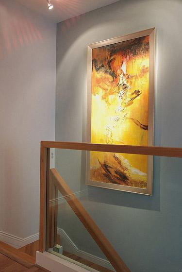 楼梯中式装饰画效果图