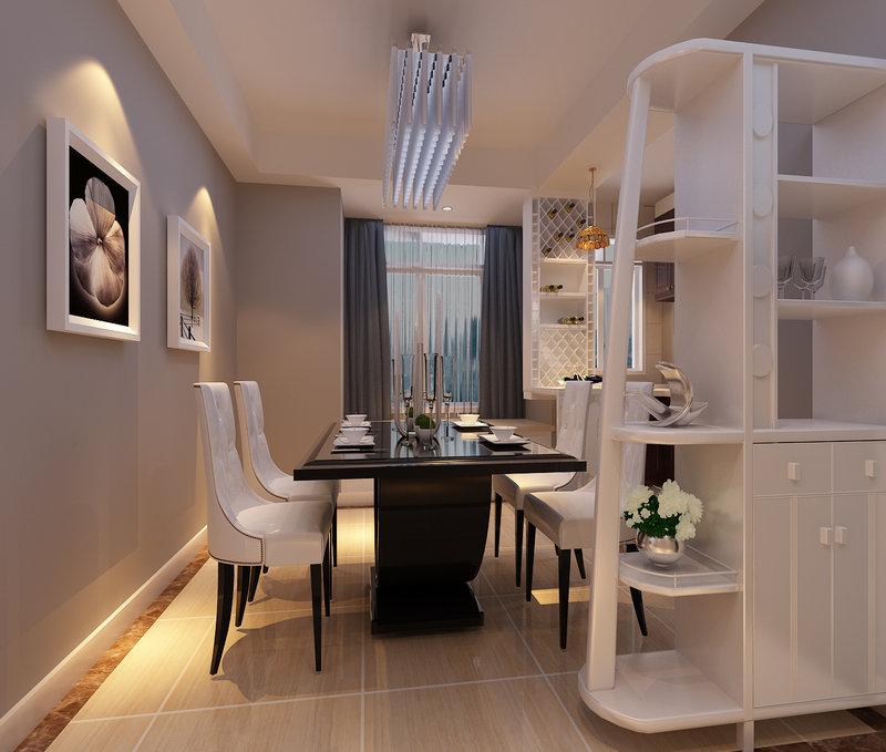 5 10万90平米简约三居室装修效果图,5 10万打造现代风89平小三房装高清图片