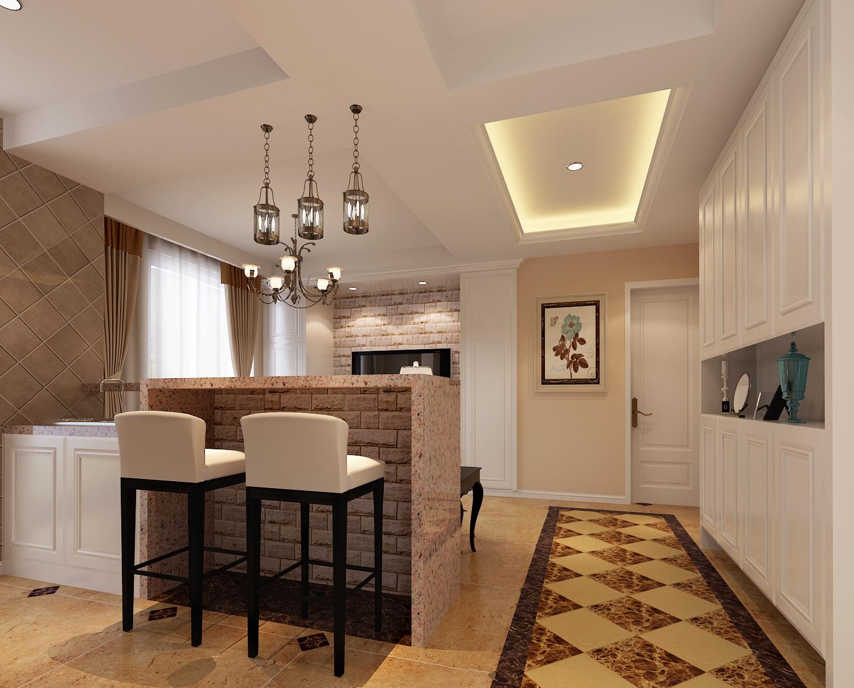 现代美式-简美装修效果图,室内设计效果图-齐家装修网图片