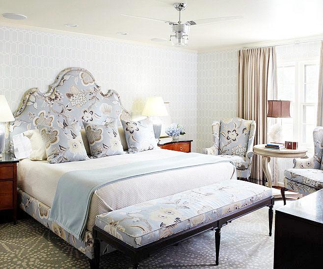 花色欧式床头软包效果图图片