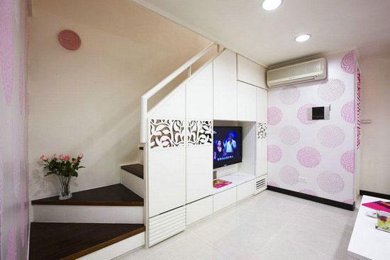 楼梯电视背景墙设计效果图