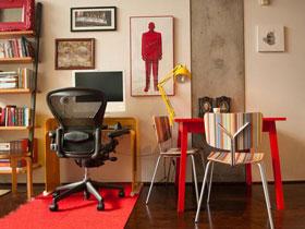 靓丽色彩工业混搭loft公寓 迷恋喜庆的空间感