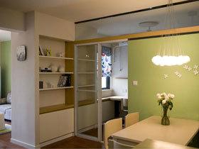 清新淡绿色简约宜家两居室 收纳这样设计就对了