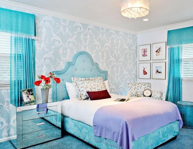小清新壁纸 14款卧室背景墙效果图图片
