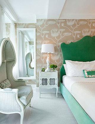 绿色咖色卧室效果图