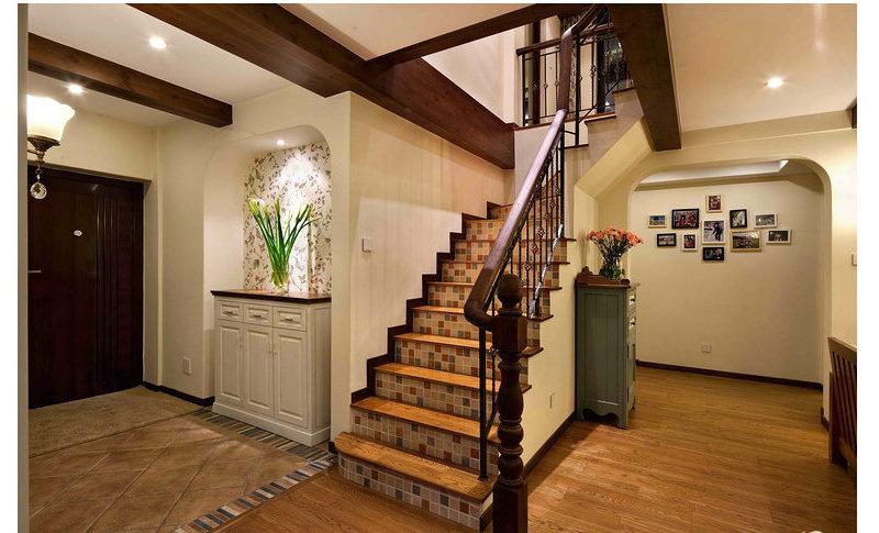 100p简约田园美式风格装修效果图,室内设计效果图 齐家装修高清图片