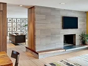 電視墻的妙用 16張客廳隔斷設計圖