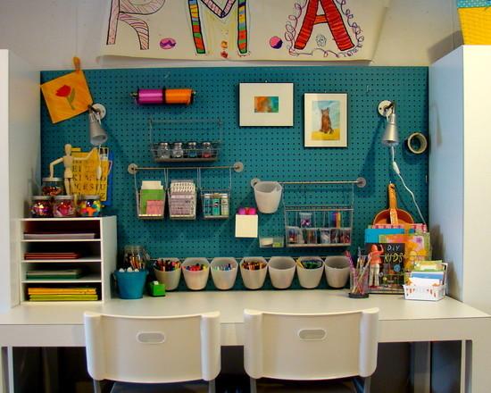 蓝色小书房设计