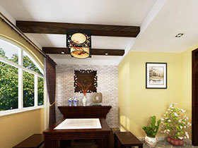 打造清新餐厅 16张中式背景墙设计图