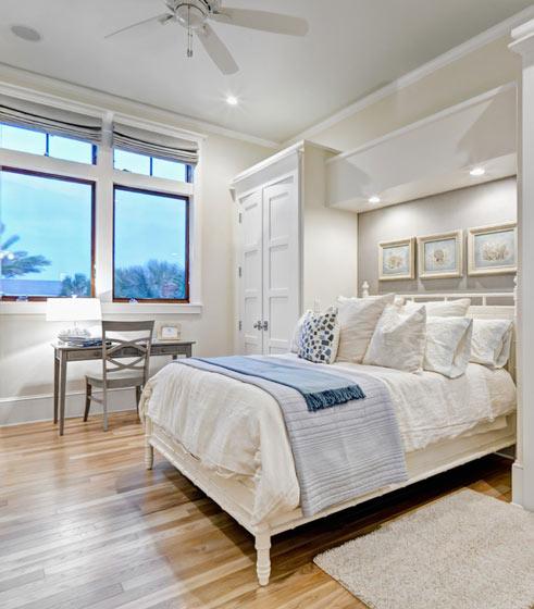 欧式白色卧室效果图