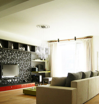 简约小客厅电视背景墙效果图