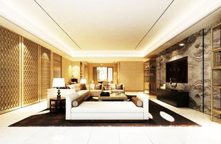 奢华新中式客厅装修效果图