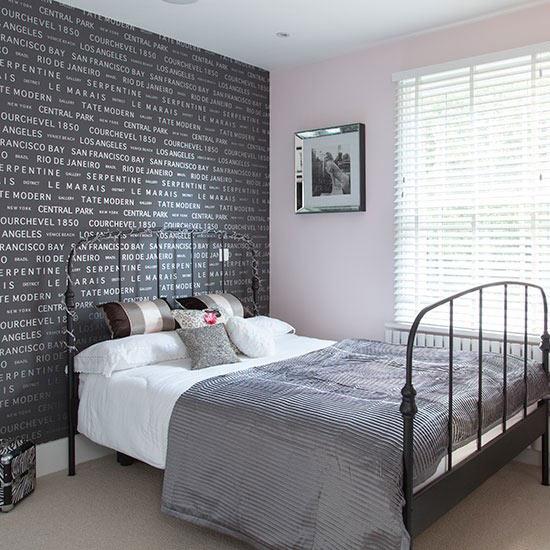 黑板墙卧室背景墙效果图