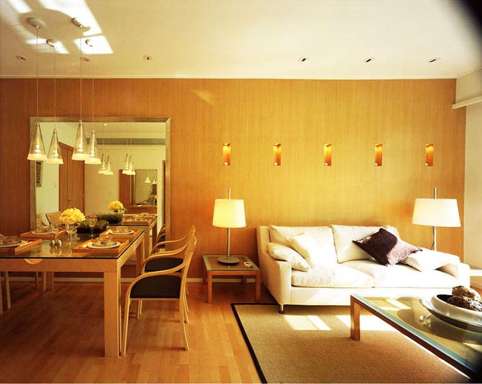 温馨小客厅背景墙装修效果图