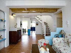唯美隔断设计 11张地中海客厅设计图