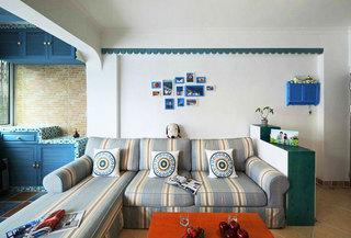 沙发隔断墙效果图