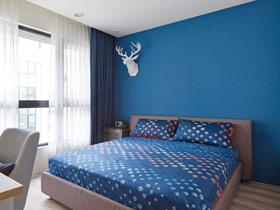 幽兰静谧空间 15款蓝色卧室背景墙设计