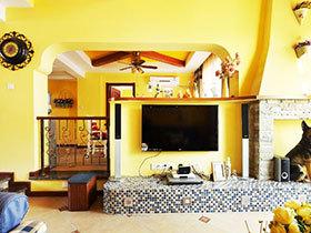 家居空间巧布置 13张电视墙隔断设计图
