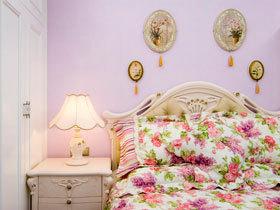 浪漫紫色情调 14款卧室背景墙效果图