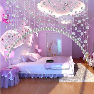 现代时尚紫色浪漫卧室效果图