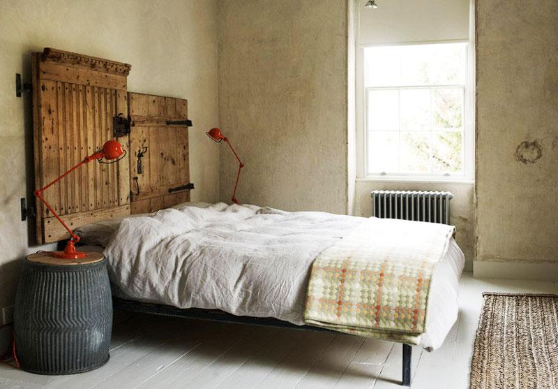怀旧卧室床头装修效果图