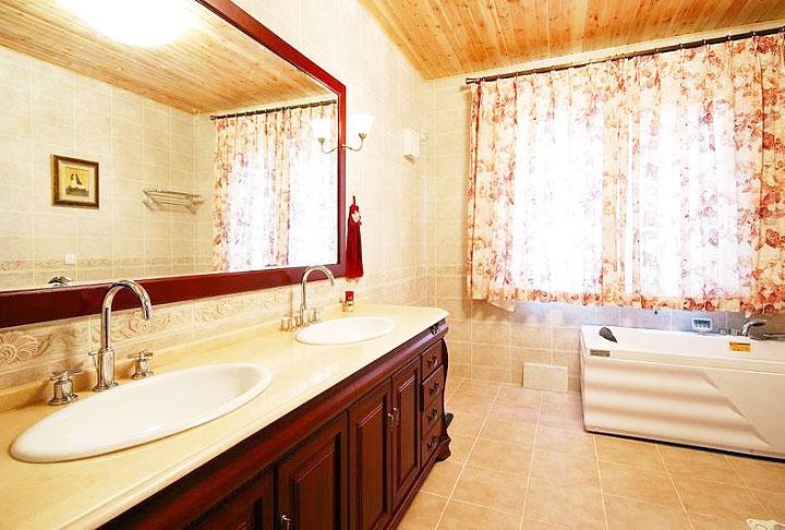 黄色浴室柜效果图_齐家网装修效果图