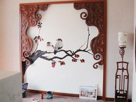 古典中式风 13款中式手绘墙图片