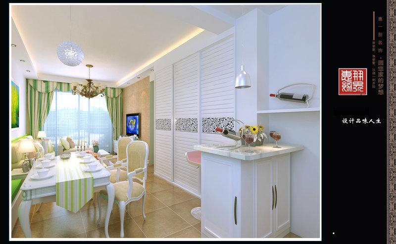 简约田园风装修效果图,室内设计效果图 齐家装修网高清图片
