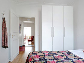 纯净简洁北欧风 白色衣柜效果图