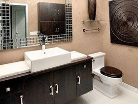 14张黑色浴室柜效果图 稳重大气