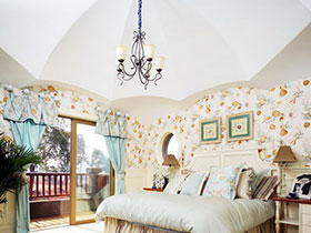 梦幻典雅欧式卧室吊顶效果图