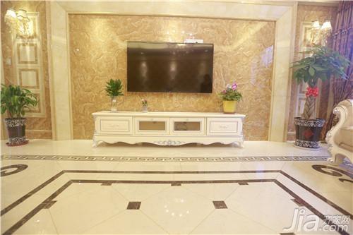 山西 主要用砖:高德瓷砖晶花玉石,九号微晶等 应用空间:客厅,大厅