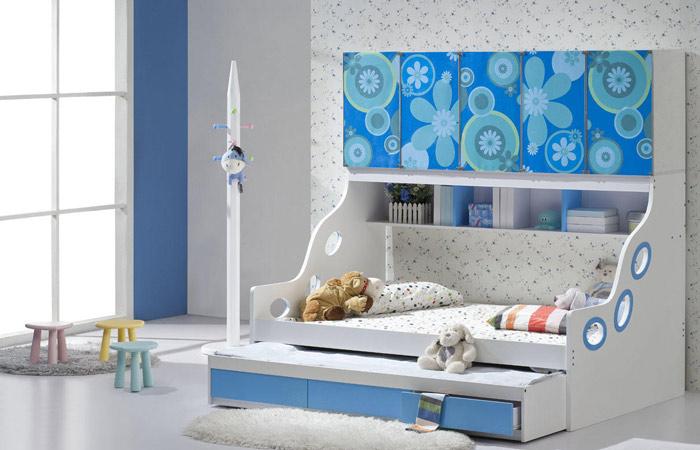 白色组合儿童床效果图片