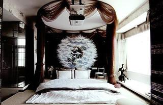 大气靠窗卧室地台效果图