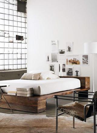 简单卧室床头装修效果图