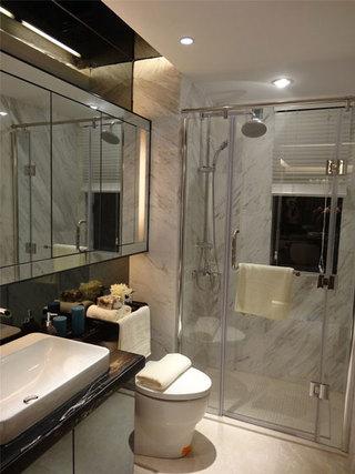 简约风格干湿分离卫浴间效果图