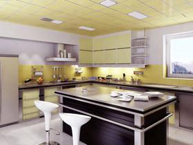 美化厨房环境 18款厨房吊顶效果图