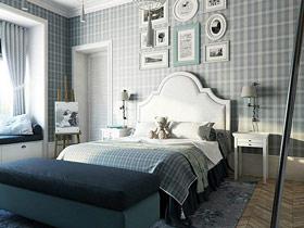 优雅欧式风格卧室 软包床头效果图