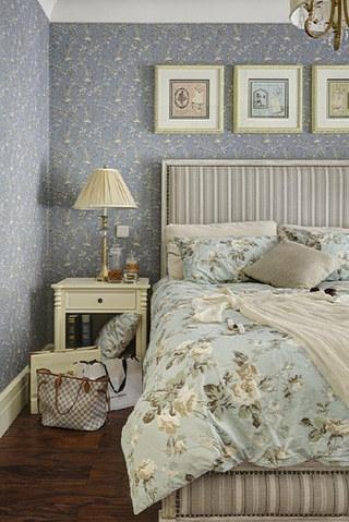 蓝色卧室壁纸效果图
